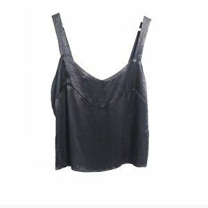 Zara. Satin like cropped tank top. Size medium.